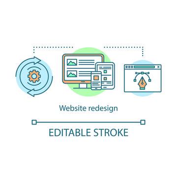Website redesign concept icon