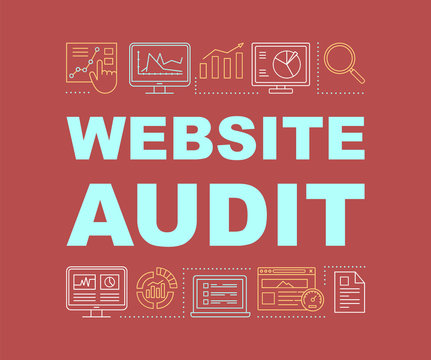 Website audit word concepts banner