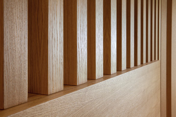 wooden slats in perspective