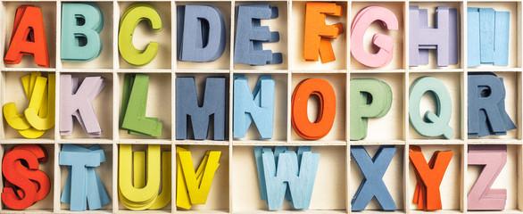 Color Wood Alphabets