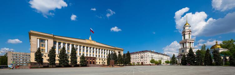 Panorama of Sobornaya Square of Lipetsk