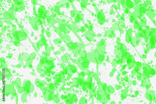 Green Color Splatters On White Background Modern