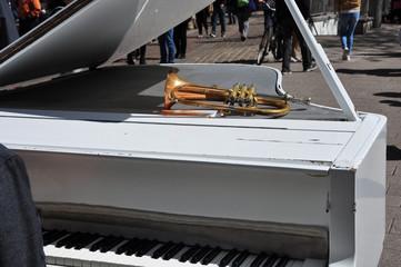 Musikduo, ein Konzert mit Klavier und Trompete