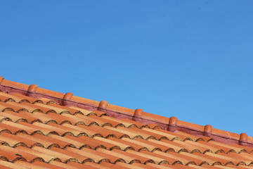 Close up sky and roof at home in thailand