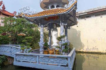 Suburban buddhist temple Ho Chi Minh City Vietnam