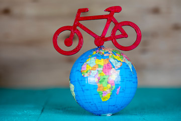 World Tour Concept , Bicycle, Cycling Tour