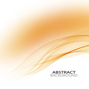 Yellow wave lines on abstract background