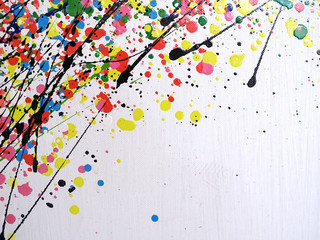 Oil paint colorful splash drop sweet colors abstract background and texture.  Fototapete
