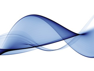 Abstract blue smooth wave motion illustration