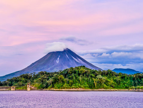 landscape with Arenal Volcan in costa rica central america