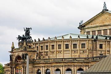 Fototapete - Dresden: Semper Oper