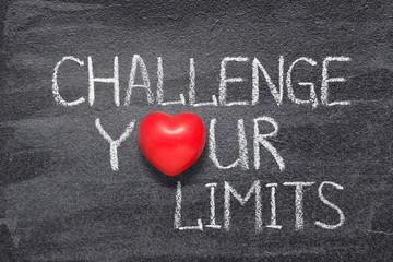 Fototapeta challenge your limits heart obraz