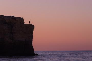 Fischer auf Steilküste / Algarve - Portugal