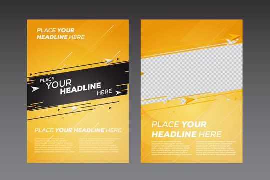 Abstract poster design template - Vector illustration