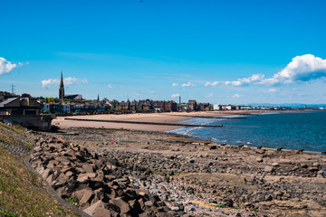 Scenic view of Portobello beach. Edinburgh, Scotland, UK.