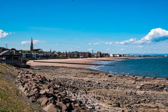 Scenic view of Portobello beach. Edinburgh, Scotland, UK.