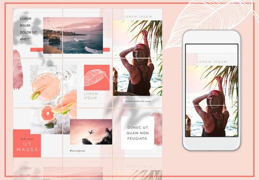Aura Grid Social Media Layout for Instagram