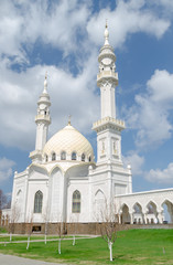 Aluminium Prints Asian Famous Place Architectural gem - the White mosque, the city of Bolgar, Russia