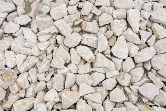 Close up of pile of limestone rocks