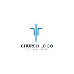 Church modern vector graphic abstract design template
