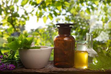 Fresh herbs - Organic essence, essential oil.