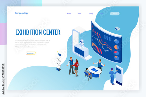 Isometric Expo Stands  Exhibition Demonstration Stand Concept
