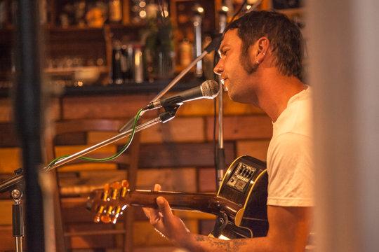Country singer sings in a bar #3