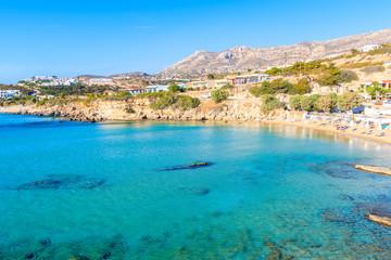Fotobehang Kust View of beautiful sea bay at Ammopi beach, Karpathos island, Greece