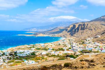 Wall Mural - View of beautiful sea and coast near Lefkos beach, Karpathos island, Greece