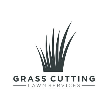 Grass logo for lawn mower services or garden yard decorations