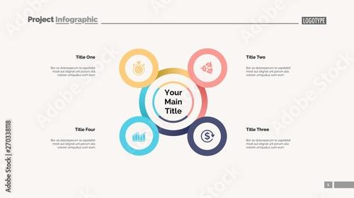 Four points process chart  Business data  Strategy, diagram, design