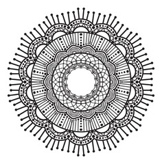Abstract mandala graphic design decorative elements isolated on white color background   for abstract concepts