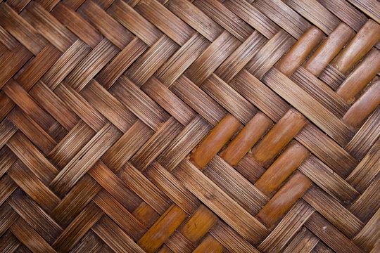 Background woven bamboo pattern.