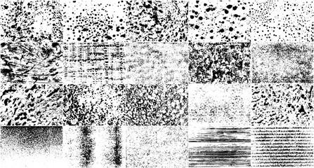 Fototapeta  Vector Set Grunge Design Elements. Black And White Noise. Overlay Grainy Texture. Illustration, Eps 10. obraz