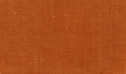 Old grungy canvas pattern with dirty spots in orange color.