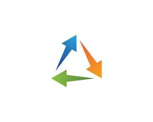 Poster Geometric animals Arrow ilustration logo vector
