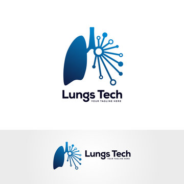 human lungs logo designs template, lungs technology logo design vector, respiratory system logo designs