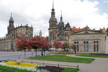 Fotomurales - Dresden, Altstadt: Hofkirche und Residenzschloss