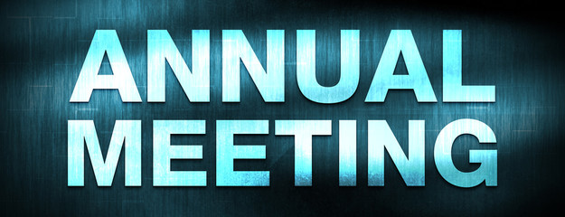 Annual Meeting abstract blue banner background