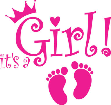 It's a girl banner, vector illustration