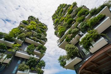 Tuinposter Milan Skyscraper named Vertical Forest in Milan
