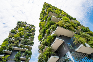 Papiers peints Milan Skyscraper named Vertical Forest in Milan