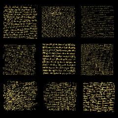 Handwriting files gold, vector design