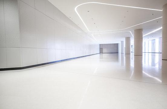 Modern building interior space environment design empty hall