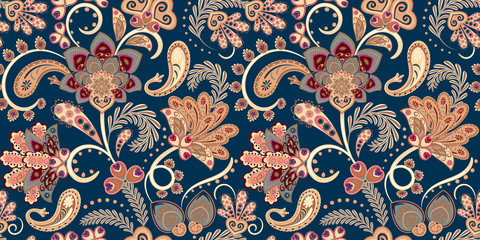 Seamless vector paisley pattern