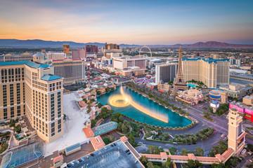 Fototapete - Las Vegas, Nevada, USA Skyline