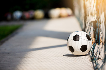 classic soccer ball image with light shadow reflection