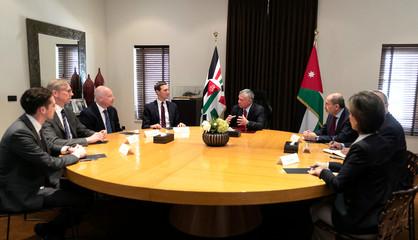 Jordan's King Abdullah meets with Senior White House Advisor Jared Kushner in Amman