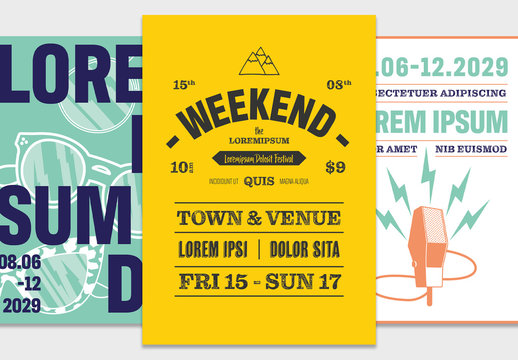 Outdoor Event Poster Set