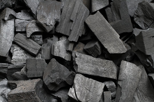 Black wood charcoal texture background